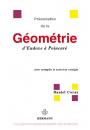 Présentation de la Géométrie d'Euxode à Poincaré