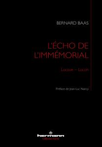 L'écho de l'immémorial Book Cover