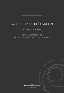 La Liberté négative