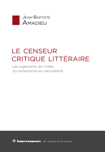 Le censeur critique littéraire
