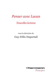 Penser avec Lacan – Nouvelles lectures