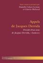 Appels de Jacques Derrida